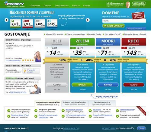 Spletno gostovanje NEOSERV.si