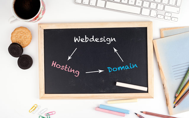 Spletna stran, gostovanje in domena