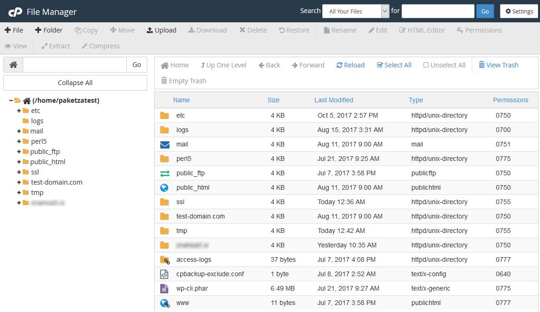 Kako na paket gostovanja dodati datoteke?