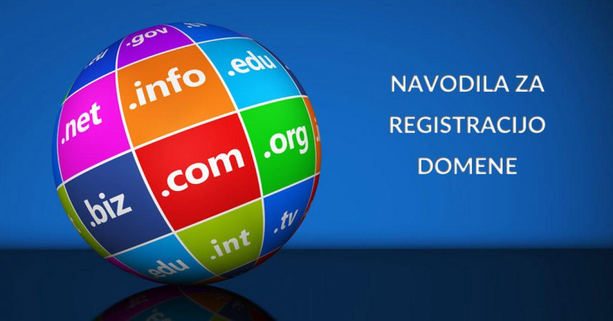 Navodila za registracijo domene